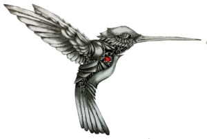 black-n-white-hummingbird-tattoo-design