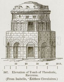 Elevation of Tomb of Theodoric, Ravenna