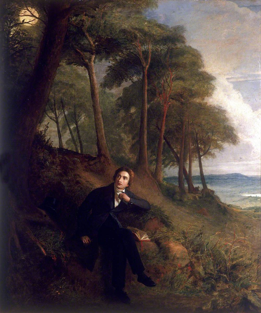 Severn, Joseph, 1793-1879; Keats Listening to a Nightingale on Hampstead Heath