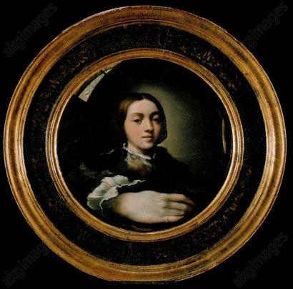 Parmigianino, Selbstbildnis um 1524 - Parmigianino / Self-Portrait / c.1524 -